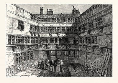 Crutch Drawing - Sir R. Whittingtons House Crutched Friars 1803 London by English School