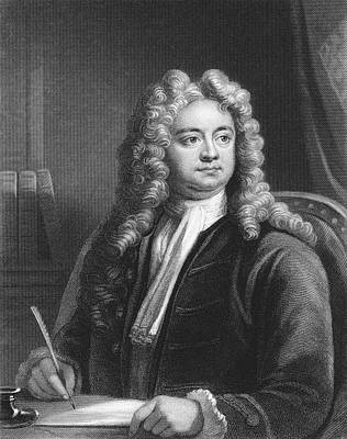 Steele Drawing - Sir Richard Steele (1672 - 1729) by Mary Evans Picture Library