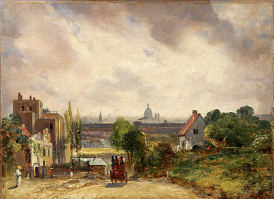 Hampstead Painting - Sir Richard Steeles Cottage, Hampstead A View Of London by Litz Collection