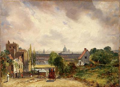 Sir Richard Steeles Cottage, Hampstead A View Of London Art Print