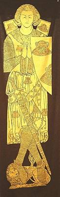 Brass Rubbing Tapestry - Textile - Sir Robert De Septvans by William Streett