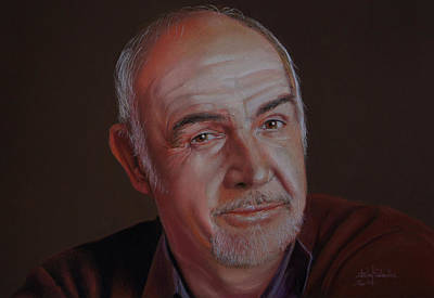 Sir Sean Connery Art Print by Isabel Salvador