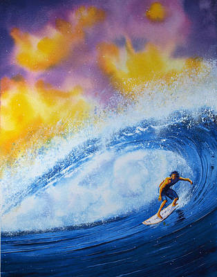 Big Wave Painting - Sir Surfsalot by Nelson Ruger