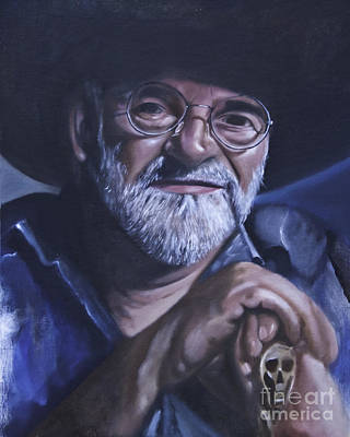 Painting - Sir Terry Pratchett by James Lavott