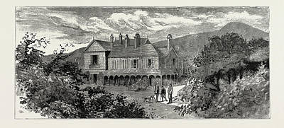 North Wales Drawing - Sir Theodore Martins House At Bryntysilio by Litz Collection