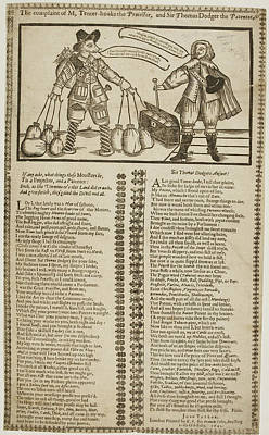 Sir Thomas Dodger And M. Tenter-hooke Print by British Library