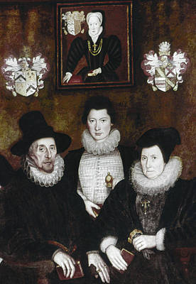 Family Coat Of Arms Painting - Sir Thomas More Family by Granger