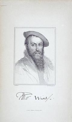 Portaits Photograph - Sir Thomas Wyatt by British Library