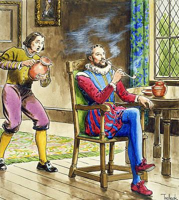 Sir Walter Raleigh From Peeps Art Print by Trelleek