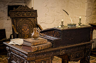 Photograph - Sir Walter Raleighs Desk by Heather Applegate