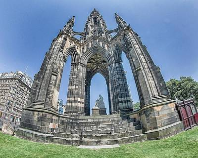 Photograph - Sir Walter Scott Monument- Edinburgh by Alan Toepfer