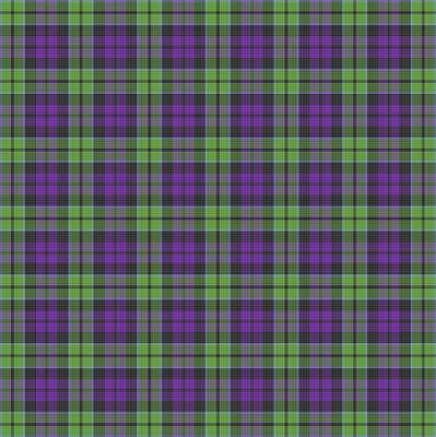 Digital Art - Sir Walter Scott Purple And Green by Gregory Scott