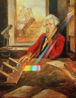 Infra-red Photograph - Sir William Herschel 1738-1822 by Ken Hodges