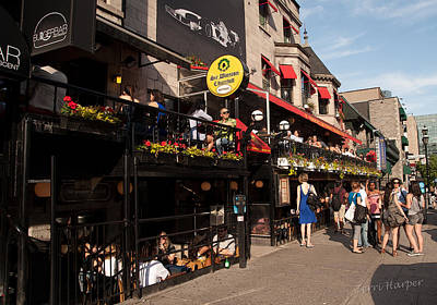 Photograph - Sir Winston Churchill Pub On Rue De Crescent In Montreal by Terri Harper