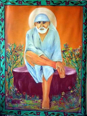 Sirdi Wale Sai Baba Art Print by M bhatt