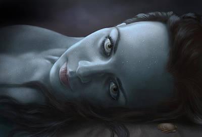 Mermaid Digital Art - Siren by Bernadett Kovacs