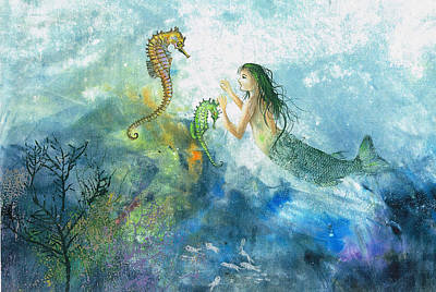 Mixed Media - Siren Of The Sea by Nancy Gorr