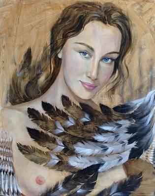 Character Portraits Painting - Siren by Roksolana Tchotchieva