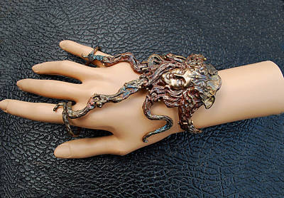 Shibuichi Jewelry - Sirena Art Nouveau Lady Hand Flower by Michelle  Robison