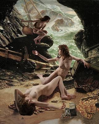 Sirens' Cave Art Print