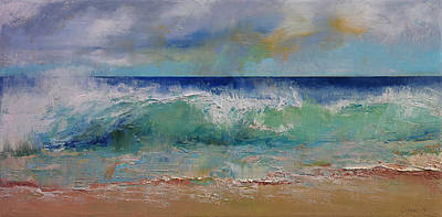 Crashing Wave Painting - Sirens by Michael Creese