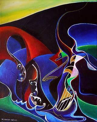 Sirens Scylla And Charybdis Original by Wolfgang Schweizer