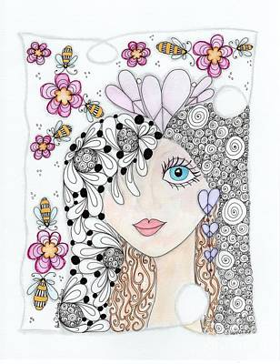 Pen And Ink Drawing Drawing - Sissy by Paula Dickerhoff