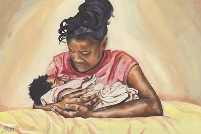 African American First Family Painting - Sissy by Sabrina McGowens