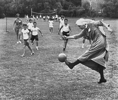 Enjoyment Photograph - Sister Boots The Ball by Underwood Archives