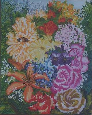 Fragrent Painting - Sister Bouquet by Darlene Duguay