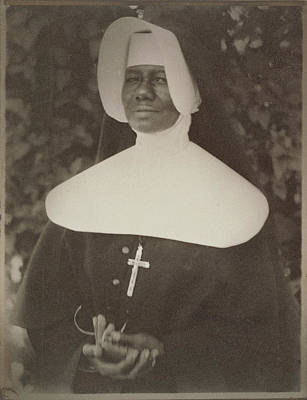Platinum Drawing - Sister Mary Paul Lewis, A Sister Of The Order Of The Holy by Litz Collection