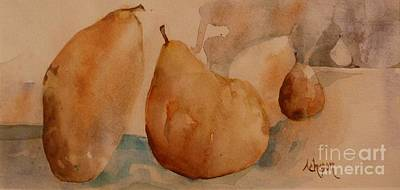 Painting - Sister Pears by Donna Acheson-Juillet