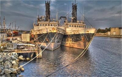 Souris Photograph - Sister Ships by Chris Miner