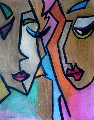 Abstract Shapes Janice Austin - Talk Pop Art by Kelly Turner