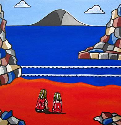 Sister Talk Art Print by Sandra Marie Adams