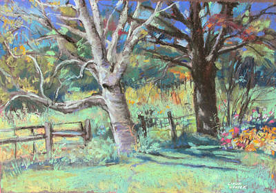 Painting - Sister Trees by Linda Novick