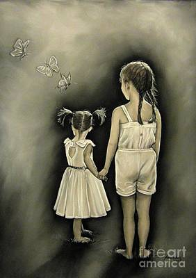 Drawing - Sisters... by Anastasis  Anastasi
