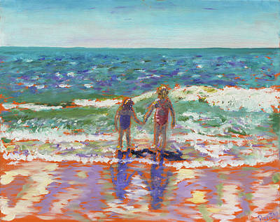Isle Of Palms Painting - Sisters At The Beach by Preston Sandlin