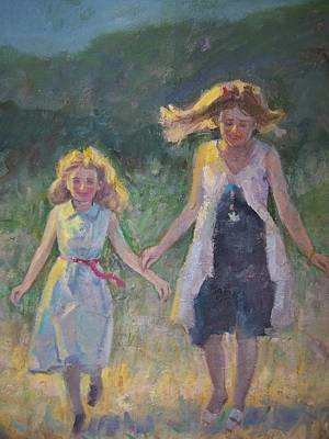 Painting - Sisters by Bart DeCeglie