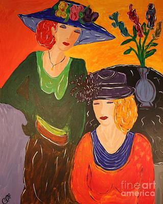 Sisters Art Print by Christine Dekkers