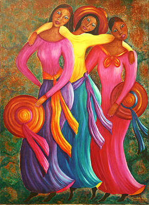 Painting - Sisters by Claudette Dean