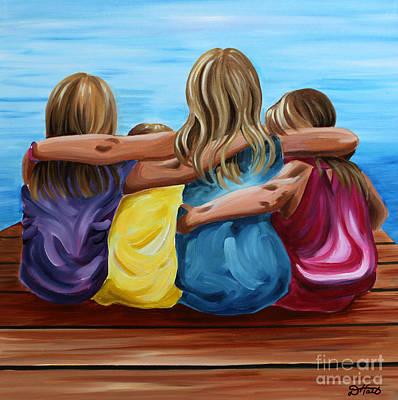 Painting - Sisters by Debbie Hart