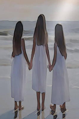 Lighting Effect Digital Art - Sisters by Dennis Buckman