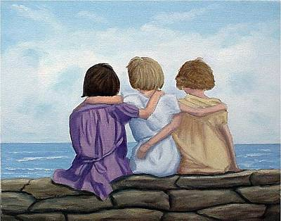 Art Print featuring the painting Sisters by Fran Brooks