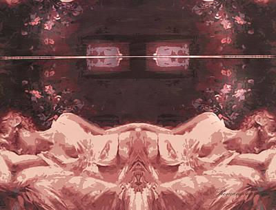 Abstract Realism Digital Art - Sisters In Slumber by Georgiana Romanovna