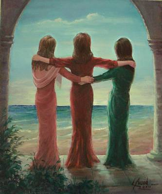 Art Print featuring the painting Sisters by Laila Awad Jamaleldin
