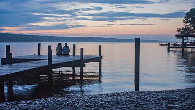 Sisters - Lakeside Living At Sunset Art Print