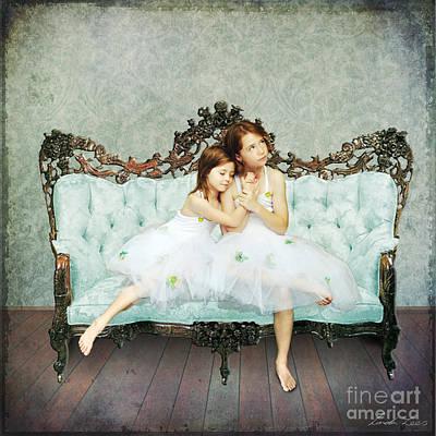 Couch Digital Art - Sisters by Linda Lees