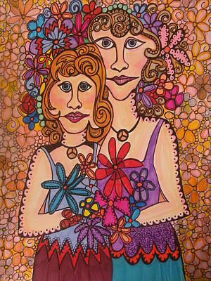 Confident Drawing - Sisters Of Peace  by Gerri Rowan