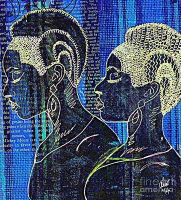 Mixed Media - Sisters Of The Night by Angela L Walker
